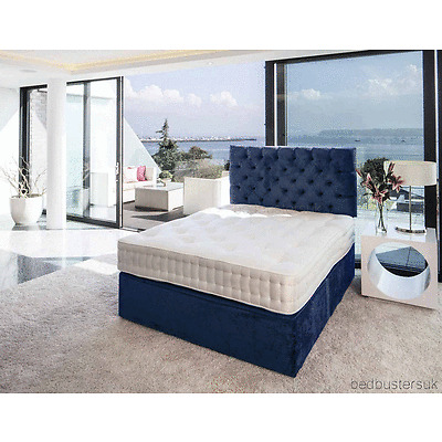 COOL MEMORY FOAM DIVAN BED SET WITH MATTRESS HEADBOARD 3FT 4FT6 Double 5FT King