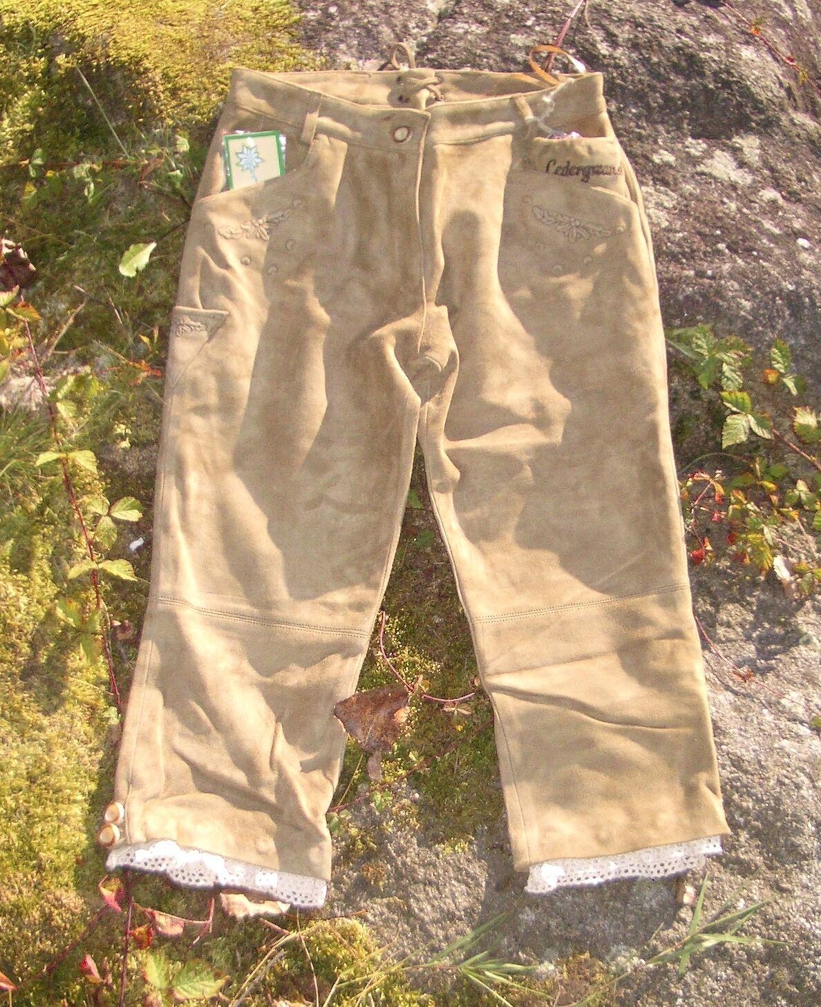 Disfraces Sexy Pantalones Oktoberfest wiesn CUERO DE LA CABRA handschuhw REAL