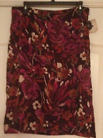 Jaclyn Smith Floral Skirt Womens 10