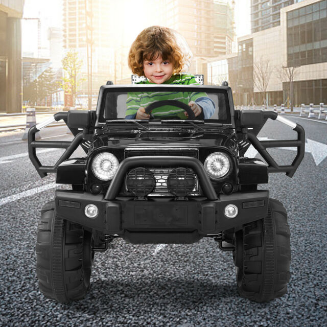 12v Rc Led Lights Battery Powered Kids Riding Car Comfortable Seat Durable For Sale Online Ebay