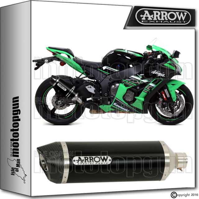 ARROW EXHAUST RACE-TECH ALUMINIUM DARK CARBY CUP HOM KAWASAKI ZX-10R 2016 16