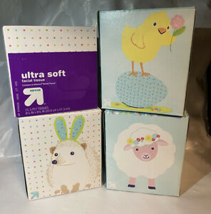 Up /& Up Ultra Soft Facial Tissues Variety Pack 4 Boxes Of 75 Easter Spring Kleen