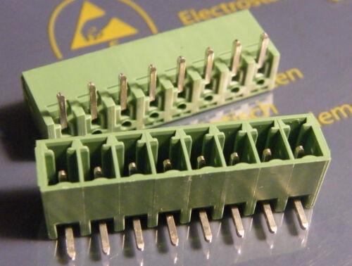20x los conectores o enchufes 8 pines 3,81mm rejilla 90 ° Phoenix Contact mc1 5//8-g-3,81