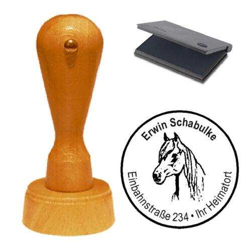 Stempel « Pferd 01 » Adressenstempel Motivstempel Holzstempel