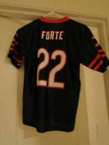 Details about NFL YOUTH Large (12-14) Navy JERSEY MATT FORTE #22 CHICAGO BEARS