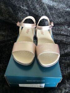 Hotter-Tropic-Size-4-5-Rose-Gold-Sandals