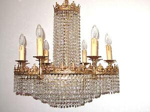 Kronleuchter 9 Flammig Kristall ~ Antik messing bleikristall kronleuchter lüster 9 flammig ebay