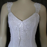 White Elegant Lace Casual, Beach, Western Wedding Dress