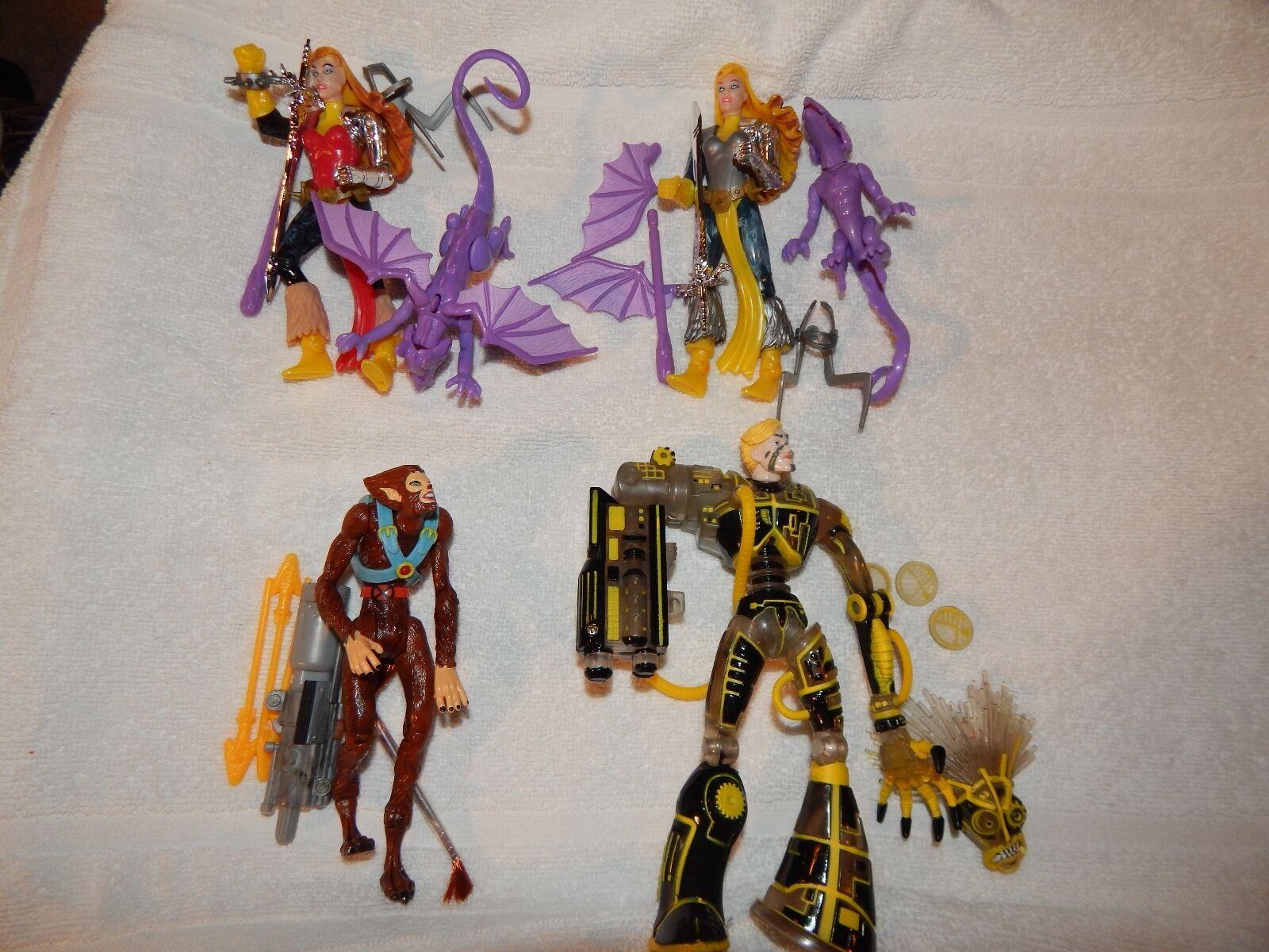 Xmen neue mutanten - komplett - set 4 actionfiguren locker toybiz nie angezeigt.