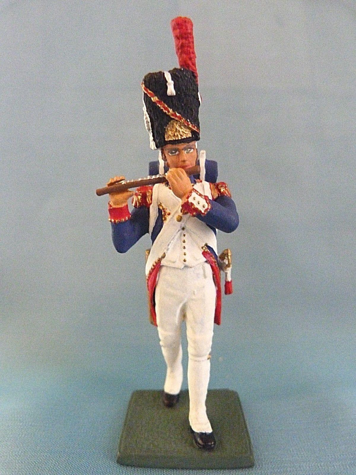 Soldat de plomb artig - fiffre du 1er r é giment des grenadiere - frankreich 1805 (3)