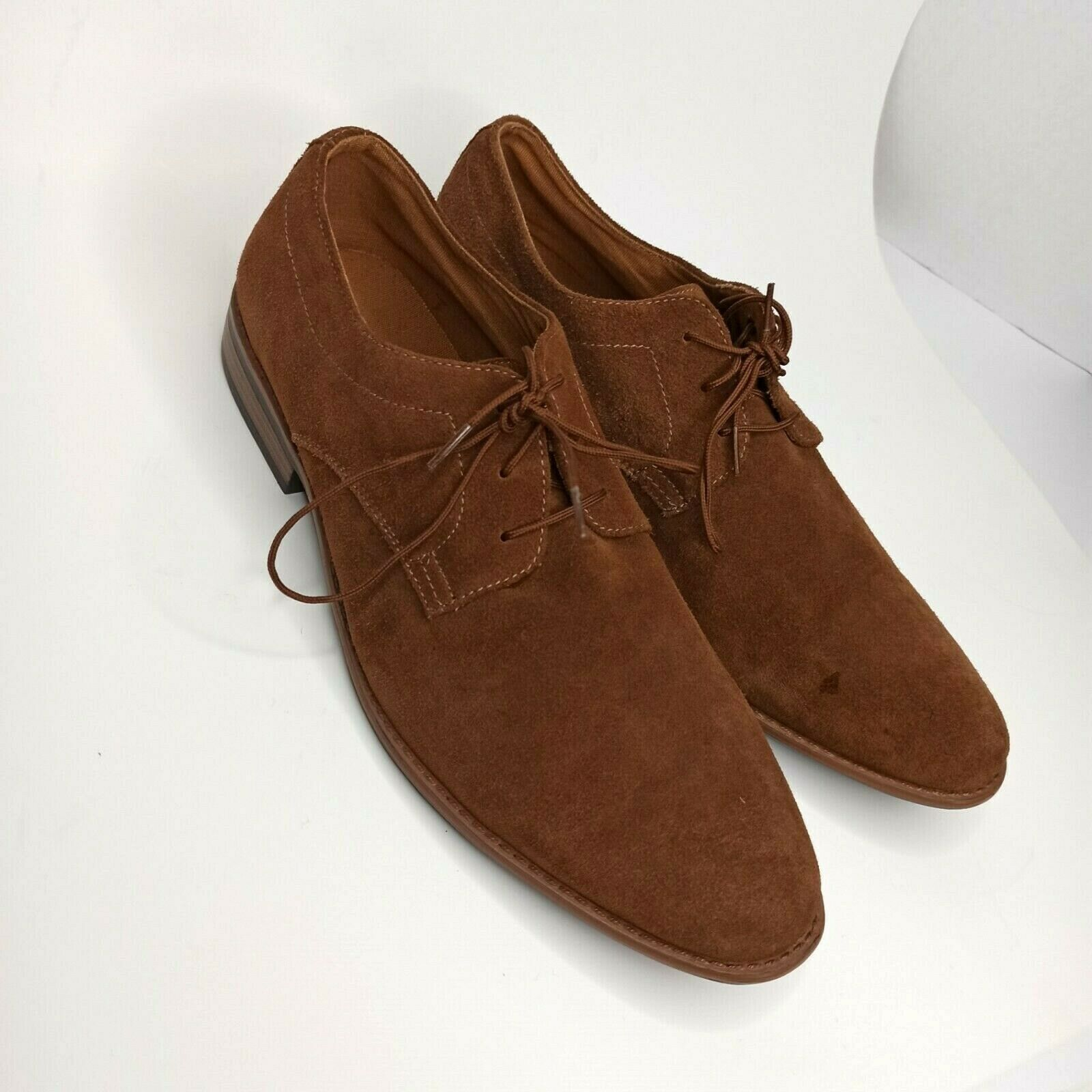 J75 By Jump Mens Oxford Dress Shoes Maroon Leather Lace Up Round Toe Size US 13