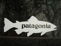 Patagonia White Trout Fly Fishing Decal