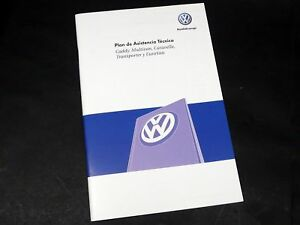 Vw Plan De Asistencia Técnica Original Serviceheft Serviceplan