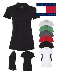 Tommy-Hilfiger-Women-039-s-Classic-Fit-Ivy-Pique-Sport-Polo-Shirt-13H4534