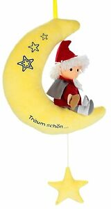 """Sandmann-Spiel<wbr/>uhr """"Auf Mond"""" 22cm Sandmännchen-M<wbr/>elodie *Träum schön ..* Musikuhr"""