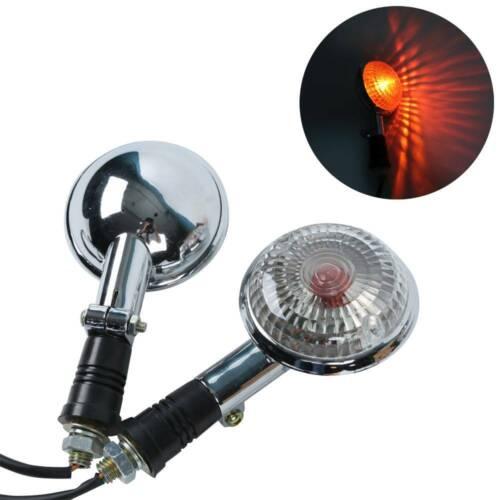 Amber Clear Turn Signal Blinker Light For Yamaha V-Star XVS650 XVS400 V-MAX1200