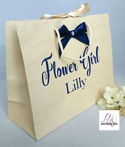 Details About Large Personalised White Cream Royal Wedding Hotel Guest Ivory Tissue Gift Bag