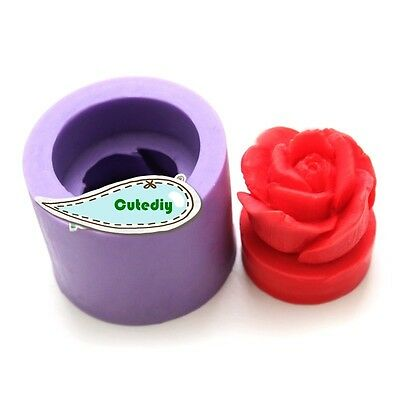Rose Flower Candle Mold Soap Mould Flexible Silicone Handmade Mold Craft