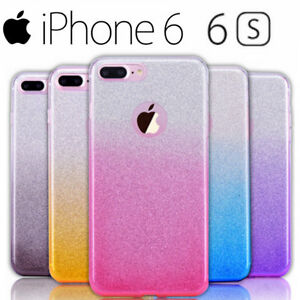 Custodia-Apple-IPHONE-6-6S-Cover-Silicone-GLITTER-BRILLANTINI-LOGO-Morbida-Slim