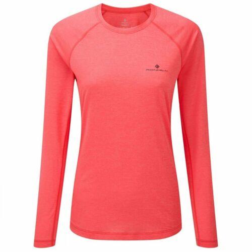 Ron Hill Womens Momentum Long Sleeve Tee Pink