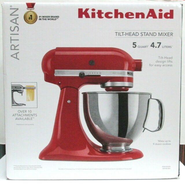 Brand New KitchenAid Artisan Series 5 Quart Tilt-Head Stand Mixer - Empire Red