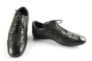 PIERRE-CARDIN-Sneakers-Baskets-Cuir-Noir-T-39-Tres-bon-etat