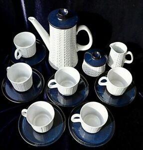 Ceramano-Epsilon-West-Germany-pottery-ceramic-coffee-service-white-and-blue