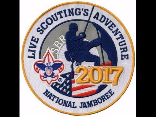 "3D 2017 BOY SCOUT OFFICIAL NATIONAL JAMBOREE BIG 8/"" JACKET PATCH EMBLEM BSA OA"