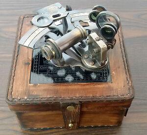 Brass Nautical Sextant 4 Inch KELVIN HUGHES 1917 Instrument H