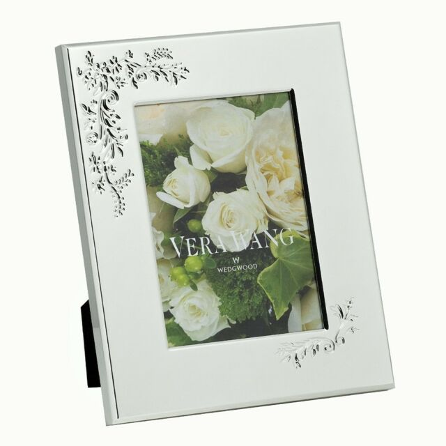 "Wedgwood Vera Wang Lace Bouquet  5"" x 7""  Photo Frame"