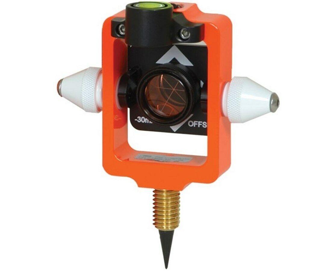 Seco Mini Stakeout Prism with Site Cones, Fluorescent Orange