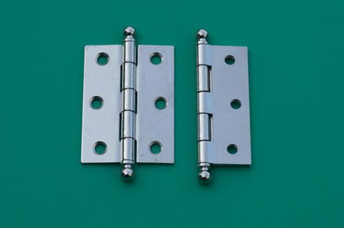 """4 FINISHES BUTT HINGES 1 3//4/"""" W X 2 7//16/"""" H BALL TIPS WITH REMOVABLE PINS STEEL"""