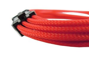 GELID-SOLUTIONS-6-Pin-Red-Braided-PCI-E-Extensions-30-cm-UV-Reactive-M5B2IT-M5B2