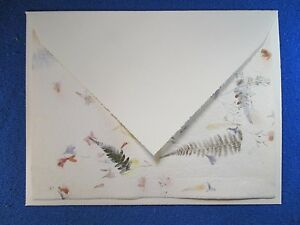 Handmade 10/10 Flower Petals and Grasses & Ivory Crown Mill Manmade Envelopes