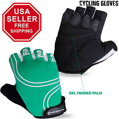 Cycling Gloves Half Finger Bicycle Fingerless Sports Bike Gel Palm S to XL