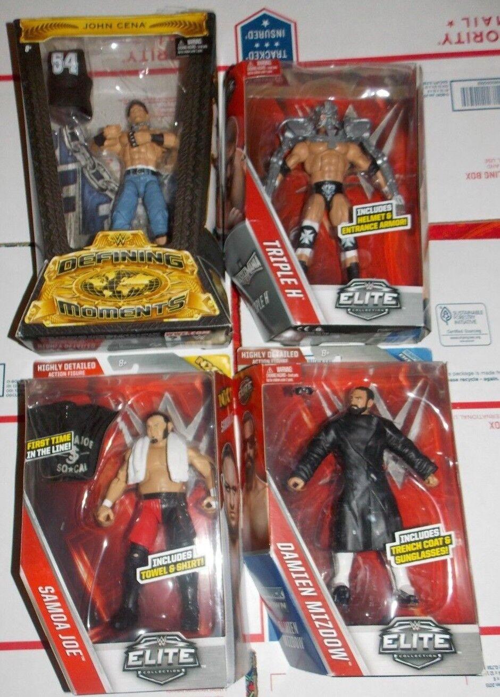 WWE Mattel Elite Lot of 4 John Cena, Triple H , Samoa Joe, Damien Mizdow