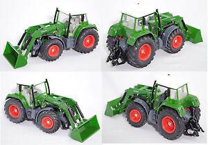 Siku-Farmer-3860-Fendt-Favorit-714-Vario-mit-Schaufellader-und-Anhaenger-1-32-OVP