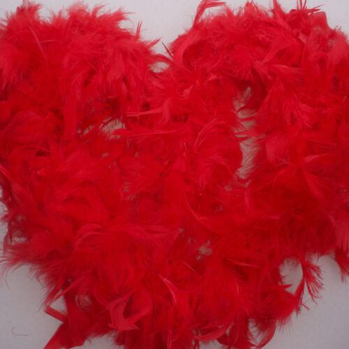 2M Feather Boa Strip Fluffy Craft Costume Fancy Dress Wedding Xmas Party Decor S