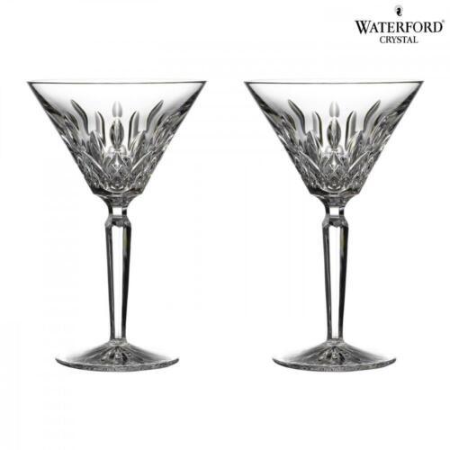 Waterford Crystal Lismore Klassisch Cocktail Martini Gläser Glas Set mit 2