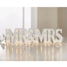RUSTIC WHITE LED SIGN WEDDING DECOR DECORATION LIGHT UP LETTERS WORD MR & MRS