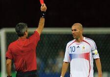 Zinedine Zidane Rosso Cartoline in Coppa Del Mondo Finale 2006 POSTER