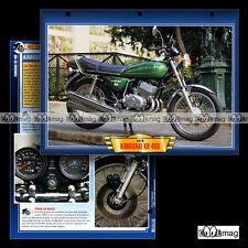 #095.02 Fiche Moto KAWASAKI KH 400 1976-1980 Motorcycle Card