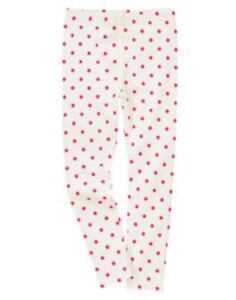 GYMBOREE-FRIENDSHIP-CAMP-IVORY-w-PINK-DOTS-A-O-LEGGINGS-5-6-7-8-9-12-NWT
