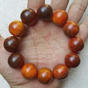 Raja Kayu Bracelet 20 MM Blood Dragon Wood 12 Beads Red Agathis King of Wood