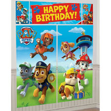 PAW PATROL WALL BANNER DECORATING KIT (5pc) ~ Happy Birthday Party Supplies
