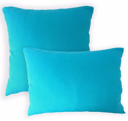 Aa138a Plain Turquoise Cotton Canvas Cushion Cover//Pillow Case*Custom Size*