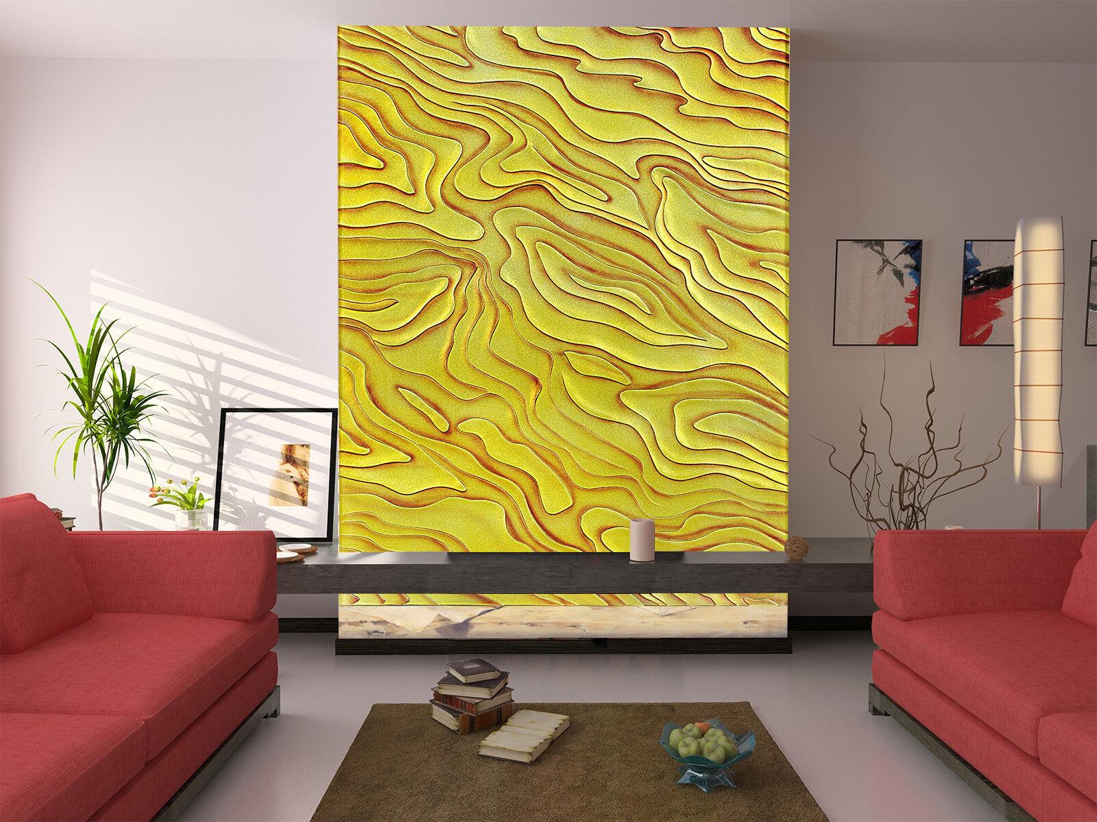 3D Gelb Texture 564 Wall Paper Wall Print Decal Wall Deco Indoor Mural Lemon