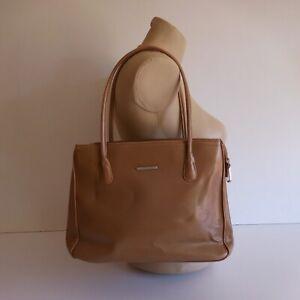 Détails sur Sac à main femme marron DAVID JONES vintage design XXe France N3699