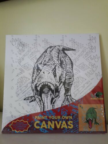 30cm X 30cm Roarsome Pintura Su Propio Dinosaurio Lienzo