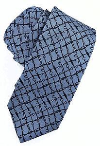 200-GUCCI-Bleu-ciel-Logo-GG-Hommes-Cravate-100-soie-nouvelle-collection